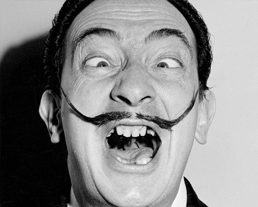 'Salvador Dali' by the photographer Weegee, 1950